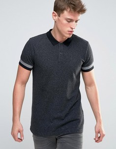 Узкая футболка-поло Esprit - Черный