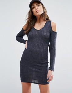 Облегающее платье с открытыми плечами Daisy Street - Темно-синий