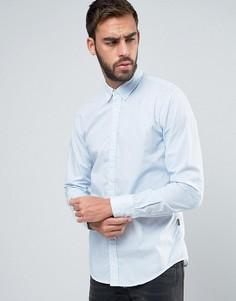 Узкая рубашка с геометрическим принтом BOSS Orange by Hugo Boss - Белый