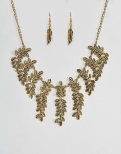 Ожерелье и серьги Ruby Rocks - Серебряный