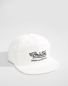 Бейсболка с высоким профилем Brixton Mach - Белый