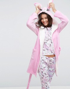 Пушистый халат с дизайном в виде кролика ASOS - Мульти