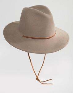 Шляпа с широкими полями Brixton Field - Серый