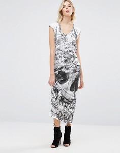 Платье макси с принтом Religion - Серый