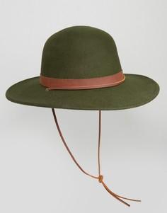 Шляпа с широкими полями Brixton Deadwood - Зеленый