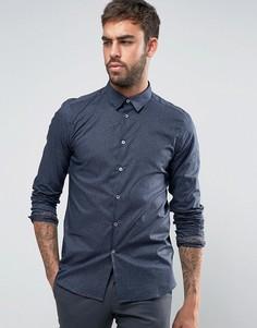Темно-синяя узкая рубашка PS by Paul Smith - Темно-синий