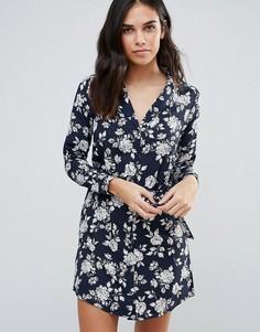 Платье-рубашка в пижамном стиле Influence - Черный