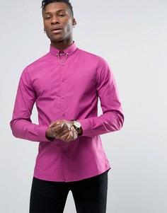 Строгая рубашка скинни с цепочкой Noose & Monkey - Розовый