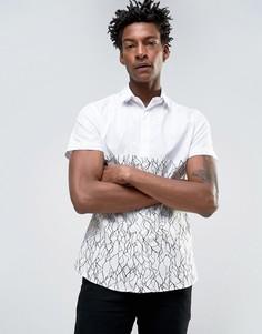 Строгая рубашка скинни со вставками Noose & Monkey - Белый