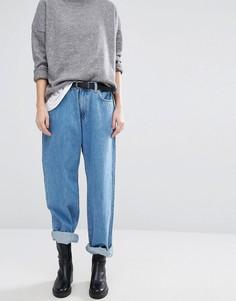 Прямые широкие джинсы в стиле 90-х с заниженной талией Dr Denim Muse - Синий