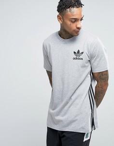 Длинная серая футболка adidas Originals BK7586 - Серый