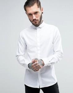 Рубашка скинни с черепом на воротнике Noose & Monkey - Белый