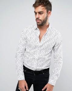 Рубашка скинни с принтом Noose & Monkey - Белый