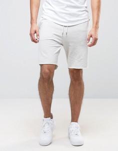 Светло-серые трикотажные шорты New Look - Кремовый
