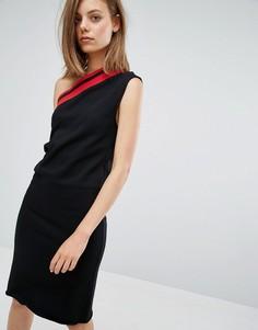Асимметричное платье в полоску Cheap Monday - Черный