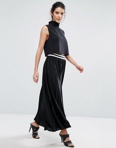 Плиссированная юбка макси Vero Moda - Черный