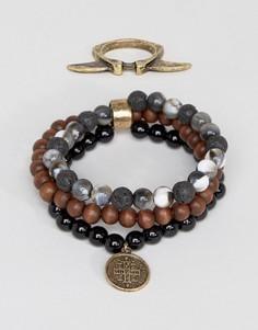 Кольцо и браслет из бусин ASOS - Мульти