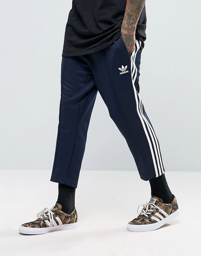 Синие свободные укороченные джоггеры adidas Originals SST BK3631 - Синий