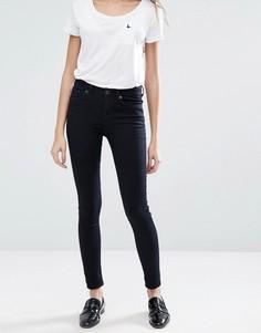 Супероблегающие джинсы с классической талией Jack Wills Fernham - Синий
