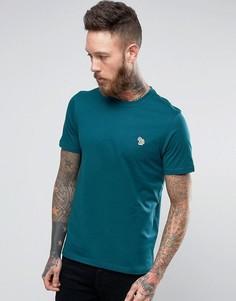 Зеленая узкая футболка с логотипом PS by Paul Smith - Зеленый