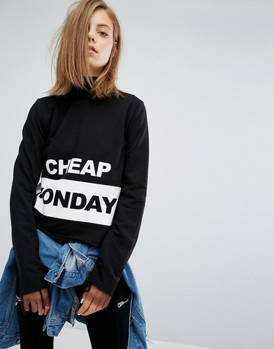 Свитшот с логотипом Cheap Monday - Черный
