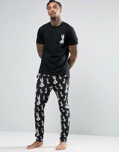 Пижама с Багз Банни ASOS - Черный