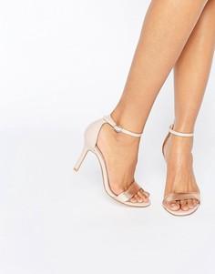 Розовые сандалии из двух частей на каблуке Dune Hydro - Розовый