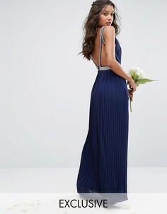 Платье макси TFNC WEDDING - Темно-синий