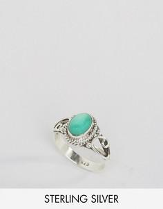 Кольцо с хризопразом - камнем для родившихся в мае Rock N Rose - Серебряный