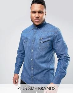 Выбеленная рубашка в стиле вестерн Wrangler PLUS - Синий