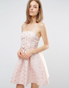 Платье-бандо с бантом Glamorous - Розовый