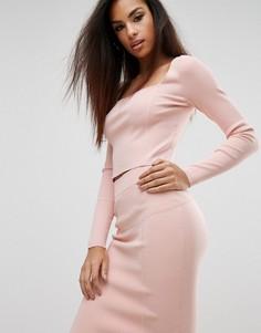 Лонгслив с квадратным вырезом Kendall + Kylie - Розовый