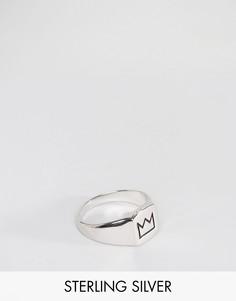 Серебряное кольцо-печатка английской пробы с короной Serge De Nimes 950 - Серебряный