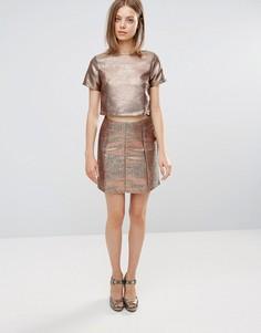 Жаккардовая юбка Glamorous - Медный