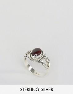Кольцо с гранатом - камнем для родившихся в январе Rock N Rose - Серебряный