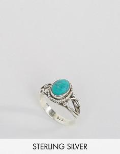 Кольцо с бирюзой - камнем для родившихся в декабре Rock N Rose - Серебряный