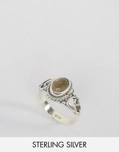 Кольцо с цитрином - камнем для родившихся в ноябре Rock N Rose - Серебряный