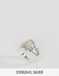 Кольцо с опалом - камнем для родившихся в октябре Rock N Rose - Серебряный