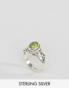 Кольцо с перидотом - камнем для родившихся в августе Rock N Rose - Серебряный