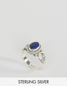 Кольцо с лазуритом - камнем для родившихся в сентябре Rock N Rose - Серебряный