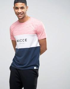 Меланжевая футболка с тремя вставками Nicce - Мульти