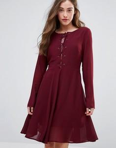 Короткое приталенное платье Glamorous - Фиолетовый