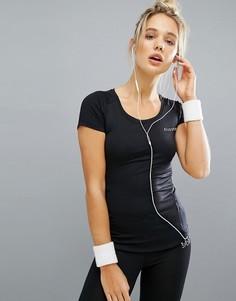 Спортивная футболка с сетчатой вставкой Elle Sports - Черный