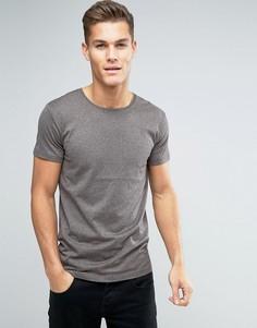 Коричневая меланжевая футболка Lindbergh - Коричневый