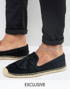 Плетеный браслет на ногу (черный/серый) DesignB - Черный