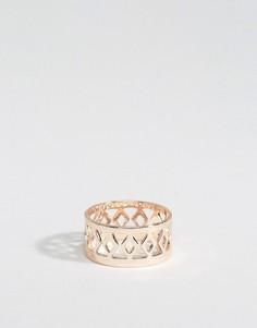 Кольцо с узором DesignB - Золотой