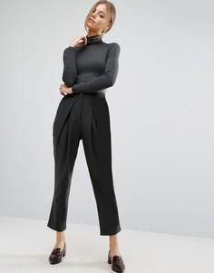 Строгие брюки-галифе с запахом ASOS - Черный