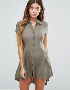 Приталенное платье Unique 21 - Зеленый