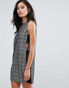 Платье-туника со вставками по бокам Hedonia - Черный