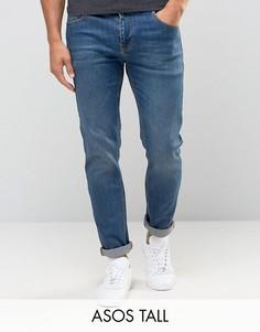 Узкие эластичные джинсы ASOS TALL - Синий